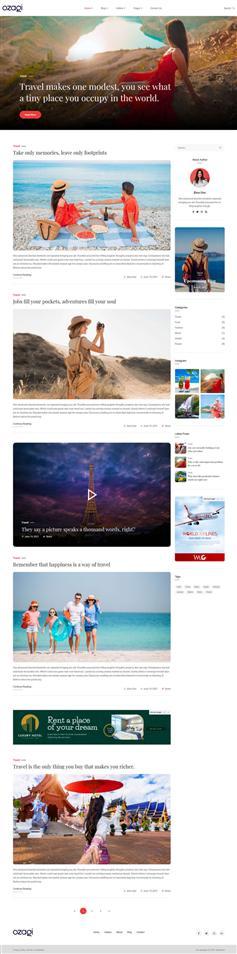 HTML5图文展示博客模板