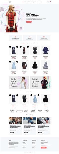 简约大气时尚女装商城bootstrap模板