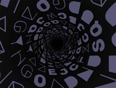 字母旋涡自动旋转动画css3特效